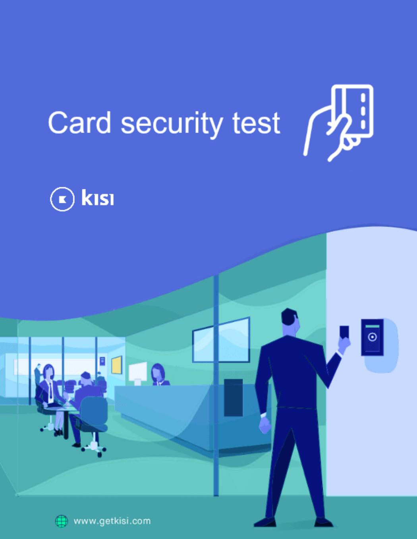 Card security test-1