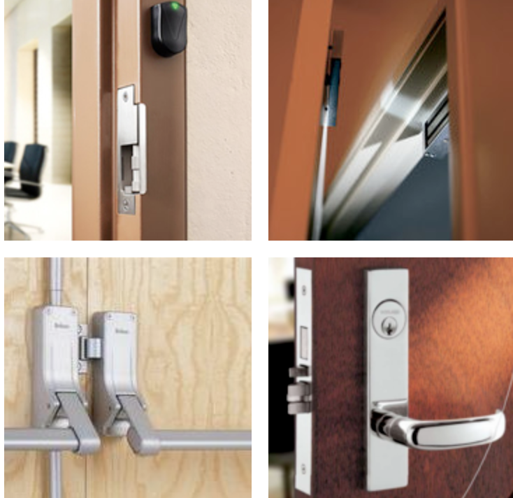 electronic access control mortise lock or push bar or electric strike or magnetic lock